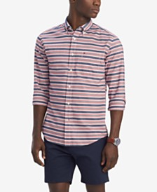 Tommy Hilfiger Men's Classic-Fit Garth Stripe Shirt, Created for Macy's