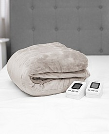King Electric Blanket with Two Digital Controllers
