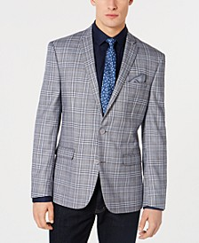 Men's Active Stretch Slim-Fit Plaid Sport Coat
