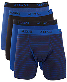 Alfani Men's 4-Pk. Boxer Briefs, Created for Macy's
