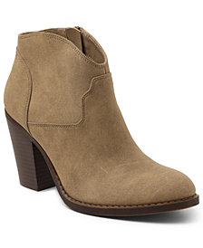 XOXO Cammie Western Ankle Booties