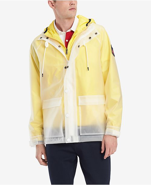 b006eb2be ... Tommy Hilfiger Men's Hooded Transparent Jacket, Created for Macy's ...