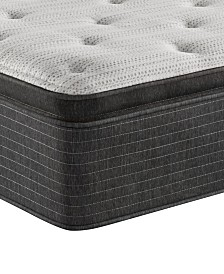 "Beautyrest Silver BRS900-TSS 14.75"" Plush Pillow Top Mattress - Twin XL, Created For Macy's"
