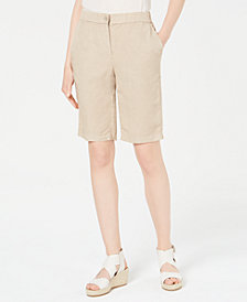Eileen Fisher Elastic Back Tencel® Linen Shorts