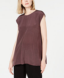 Eileen Fisher Silk Printed Top