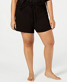 Plus-Size Ultra Soft Core Pajama Shorts, Created for Macy's