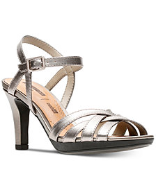 Clarks Collection Women's Adriel Wavy Heeled Sandals