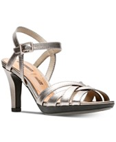 af86af3f2 Clarks Collection Women s Adriel Wavy Heeled Sandals
