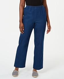 Karen Scott Denim Pull-On Pants, Created for Macy's