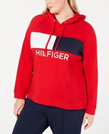 Tommy Hilfiger Sport Plus Size Heritage Colorblocked Hoodie