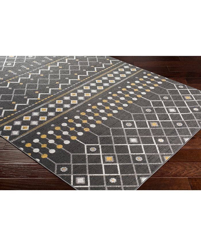 """Abbie & Allie Rugs - Rafetus ETS-2321 Charcoal 18"""" Square Swatch"""