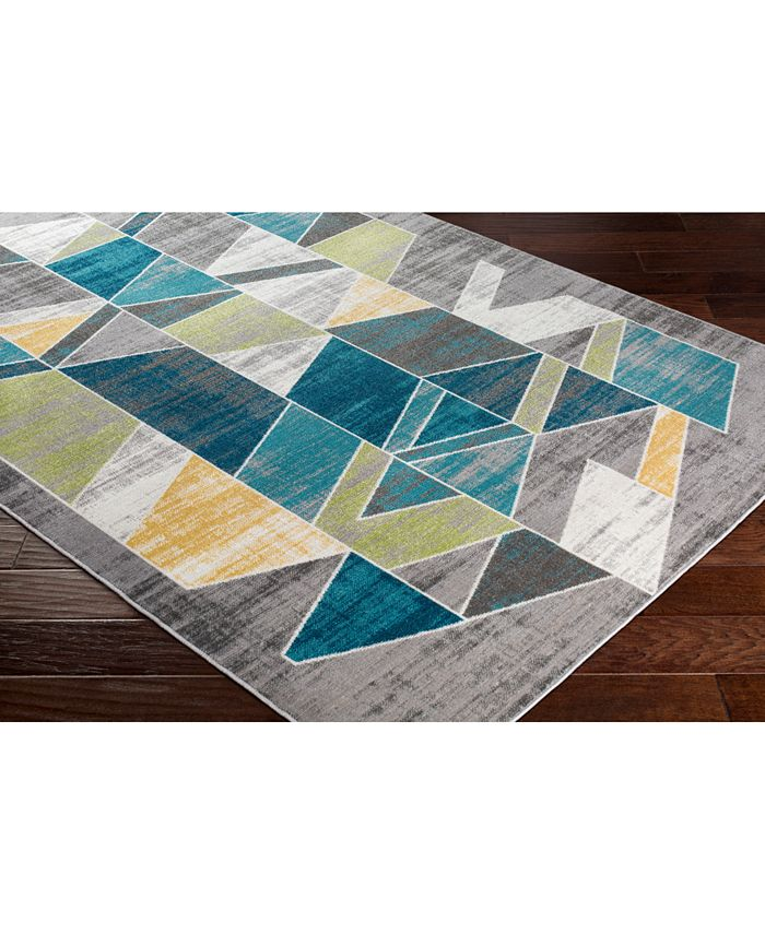 """Abbie & Allie Rugs - Rafetus ETS-2329 Teal 18"""" Square Swatch"""
