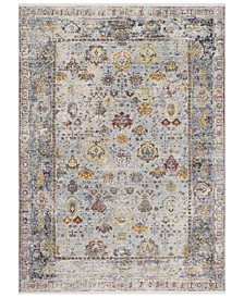 "Liverpool LVP-2300 Charcoal 7'10"" x 10'3"" Area Rug"