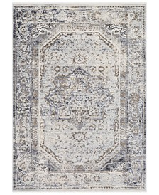 "Liverpool LVP-2302 Charcoal 3'11"" x 5'7"" Area Rug"