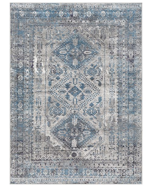 "Surya Surya MNC-2312 Light Gray 6'7"" x 9' Area Rug"