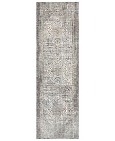 """Presidential PDT-2311 Medium Gray 3'3"""" x 10' Runner Area Rug"""