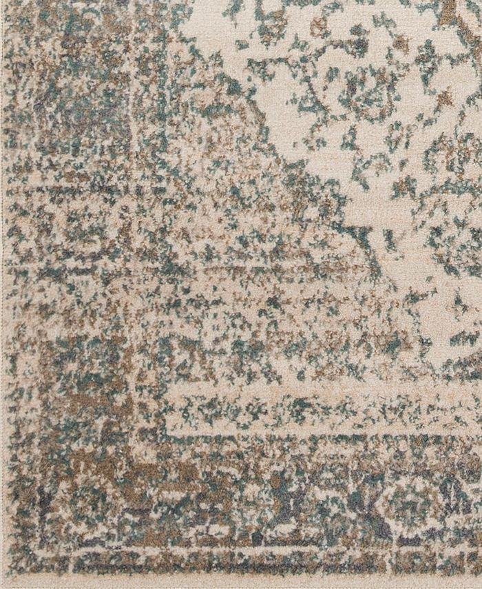 """Abbie & Allie Rugs - Oslo OSL-2300 Teal 18"""" Square Swatch"""