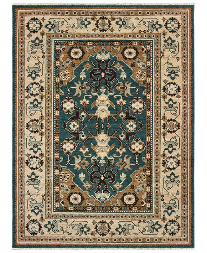 """Oriental Weavers Anatolia 5502L Teal/Sand 2'3"""" x 10' Runner Area Rug"""