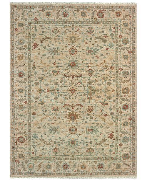 """Oriental Weavers Anatolia 091L3 Sand/Rust 3'10"""" x 5'5"""" Area Rug"""