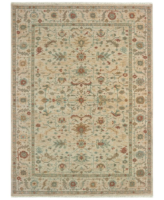 """Oriental Weavers Anatolia 091L3 Sand/Rust 7'10"""" x 10'10"""" Area Rug"""
