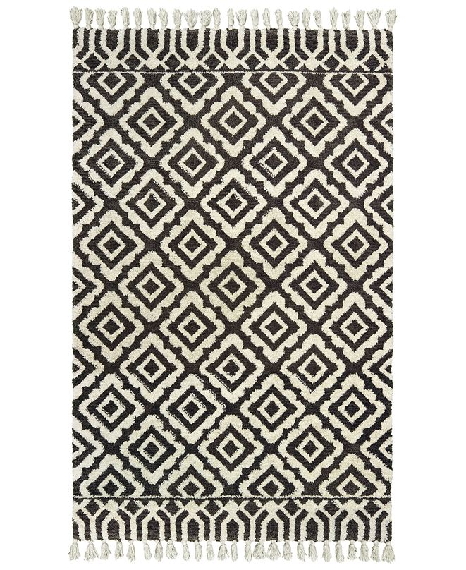 "Oriental Weavers Madison 61406 Ivory/Brown 2'6"" x 8' Runner Area Rug"