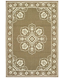 "Oriental Weavers Marina 7764 6'7"" x 9'6"" Indoor/Outdoor Area Rug"