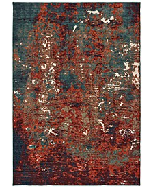 Montage 5502C Blue/Red 2' x 3' Area Rug