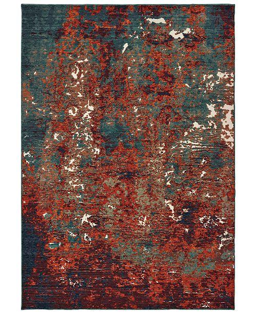 "Oriental Weavers Montage 5502C Blue/Red 9'10"" x 12'10"" Area Rug"