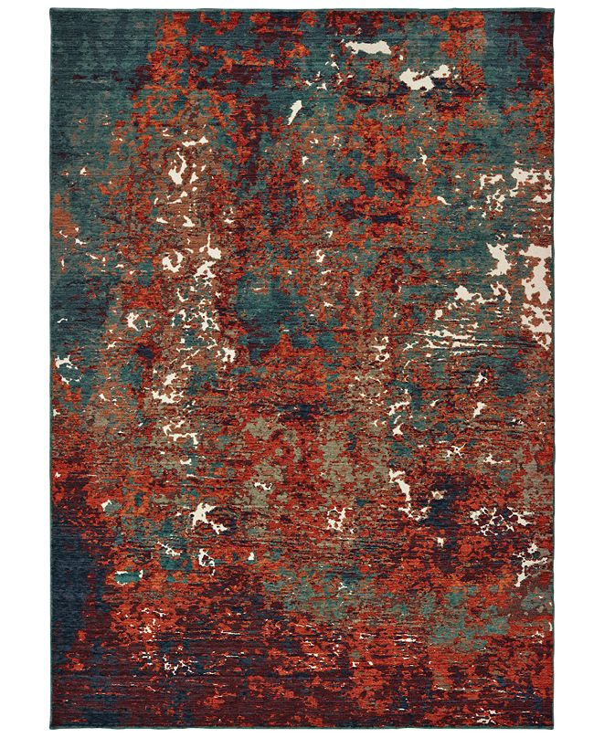 Oriental Weavers Montage 5502C Blue/Red 2' x 3' Area Rug
