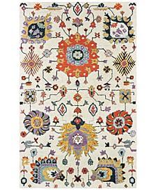 Zahra 75502 Ivory/Orange 8' x 10' Area Rug