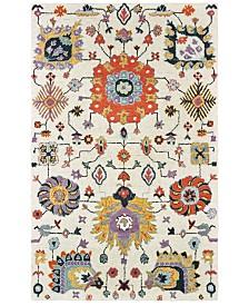 "Oriental Weavers Zahra 75502 Ivory/Orange 2'6"" x 8' Runner Area Rug"