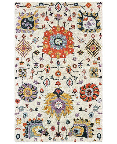 Oriental Weavers Zahra 75502 Ivory/Orange 5' x 8' Area Rug