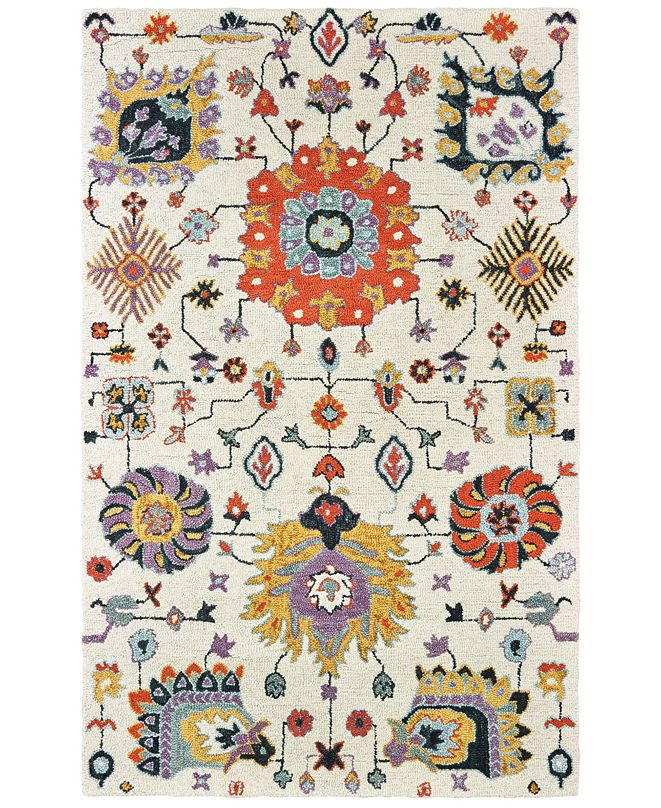 Oriental Weavers Zahra 75502 Ivory/Orange 10' x 13' Area Rug