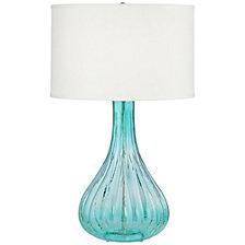 Blue Green Glass Vase