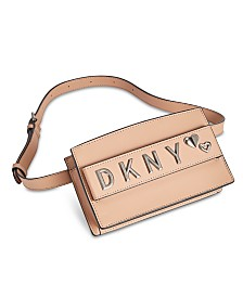 DKNY Smoke Leather Belt Bag, Created for Macy's