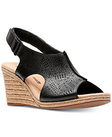 Clarks Collection Women's Lafely Rosen Wedge Sandals