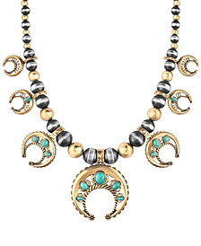 American West Two-Tone Turquoise Naja Statement Necklace