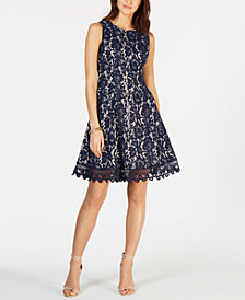 Donna Ricco Sleeveless Lace Dress