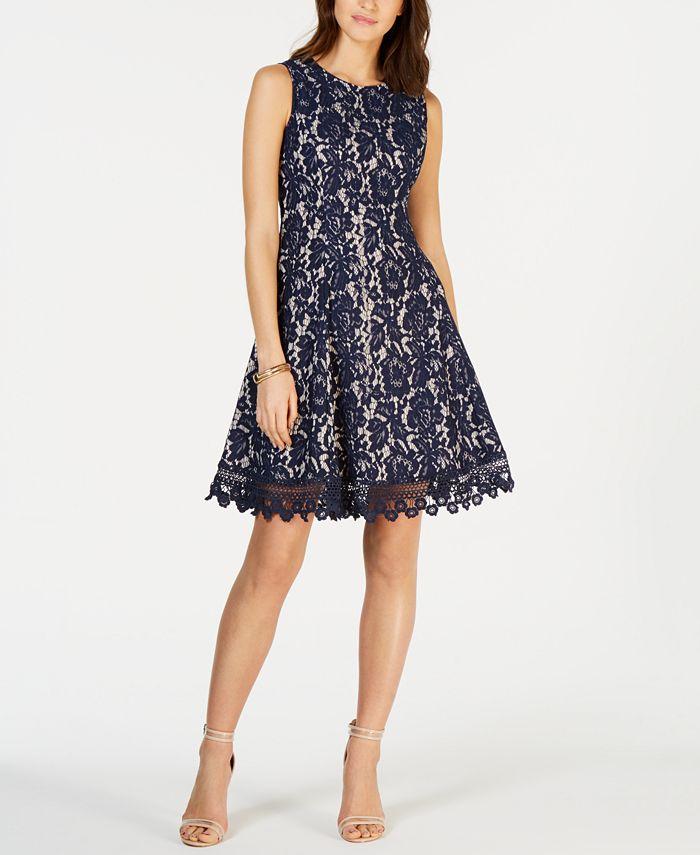 Donna Ricco - Sleeveless Lace Dress
