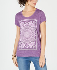 Style & Co Petite Graphic T-Shirt, Created for Macy's