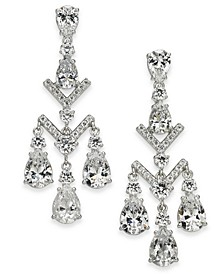 Silver-Tone Crystal Chandelier Earrings, Created for Macy's