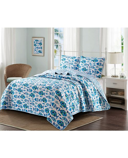 Welcome Industrial Welcome Cove 3 Piece Quilt Set Full/Queen
