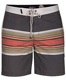 "Hurley Men's Pendleton Acadia Striped 18"" Board Shorts"