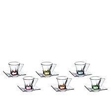 Lorren Home Trends Fusion Crystal Espresso Set