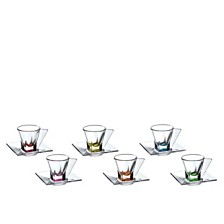 Lorren Home Trends Fusion Crystal Espresso Set