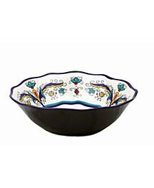 "Samana Collection Euro 13"" Wavy Stoneware Bowl"