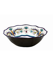 "Lorren Home Trends Samana Collection Euro 13"" Wavy Stoneware Bowl"