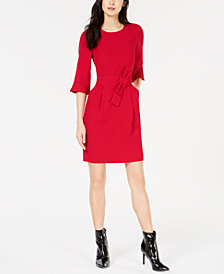 Marella Belted Split-Sleeve Dress