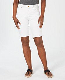 Vintage America Petite Boho Bermuda Shorts