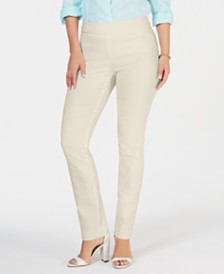 Charter Club Cambridge Skinny Pull-On Tummy-Control Pants, Created for Macy's